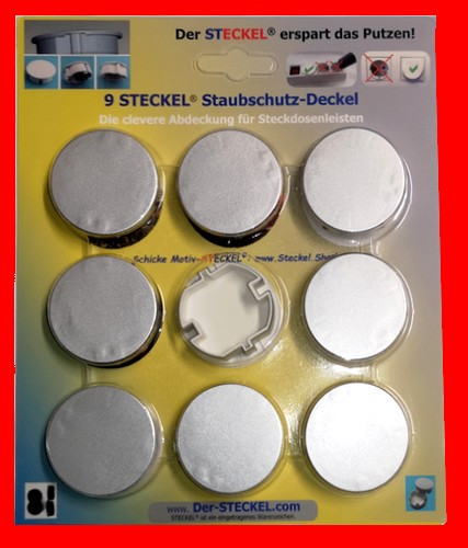 9-er Pack Der-Steckel.com Staubschutz Deckel für Steckdosen