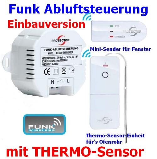 AS-6030.3 Protector Funk-Abluftsteuerung mit Thermo-Sensor Einbau-Version