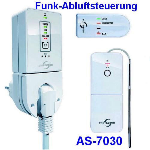 AS-7030 Protector Funk-Abluftsteuerung mit Ü-Zeichen Steckerversion mit Thermo-Sensor