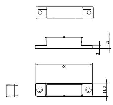 Magnet der Abluftsteuerung DFS-1000 Funk-Abluftsteuerung Maße