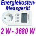 Energiekosten-Messgerät mit großem Messbereich (2W - 3680W)