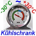 Kühlschrankthermometer Edelstahl LT-122