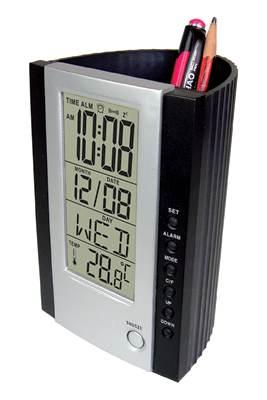 Temperatur-Timer OFFICE digital mit Uhr und Utensilien-Schale