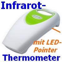 Infrarot-Thermometer 13413 mit LED-Pointer berührungslose Messung bis +250 C