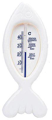 Kinder-Badethermometer Fisch Kunststoff weiß 1 bis +48 °C