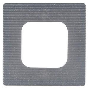 3-er Set Dekor-Rahmen/Tapetenschutz-Rahmen 1-fach stahlfarben 132 x 132 mm
