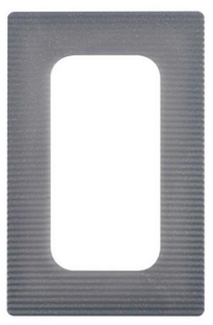 3-er Set Dekor-Rahmen/Tapetenschutz-Rahmen 2-fach stahlfarben 205 x 132 mm