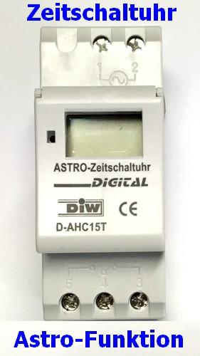 D-AHC15T Astronomische Zeitschaltuhr - kein Umprogrammieren der Sonnen-Zeiten