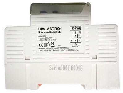 DIW-ASTRO1 DAHD16 Astrotimer astronomische Sonnen-Zeitschaltuhr
