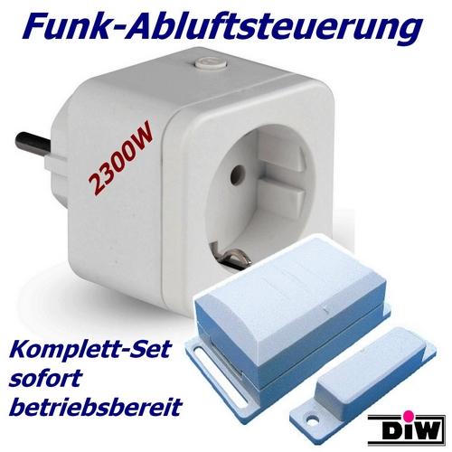 Funk-Abluftsteuerung DFS-1000.4 Komplettset steckerfertig