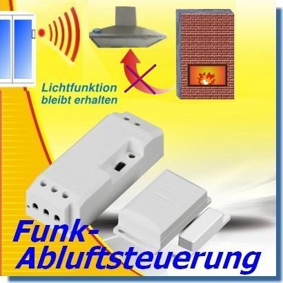 DAS-2090-E Funk-Abluftsteuerung EINBAU mit Lichtfunktion