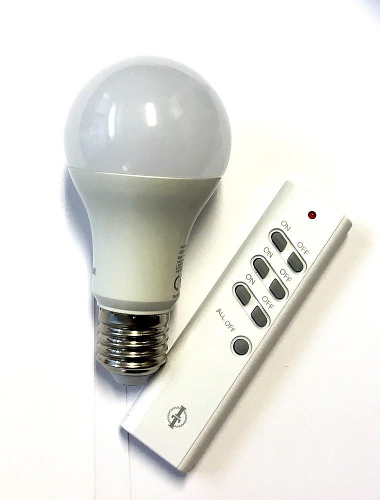 SPARSET-01: FUNK- LED-Kugellampe E24 9W mit Intertechno Fernbedienung 1xITT-1500
