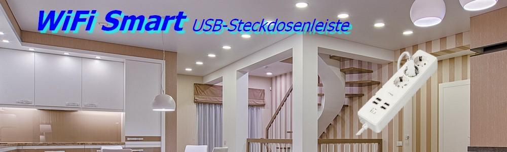DIW Smart home WiFi USB--Steckerleiste