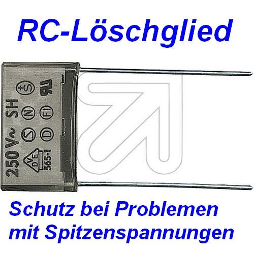 RC-Löschglied Kondensator zum Schutz gegen Spitzenspannungen