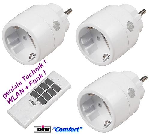 ET-633 WLAN-Steckerset: 3xWiFi-Stecker+Handsender
