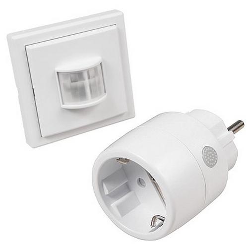 PIR-ZS11 Funksteuerung für Warmwasser Umwälzpumpe mit COMFORT Bewegungsmelder + Funk-Stecker