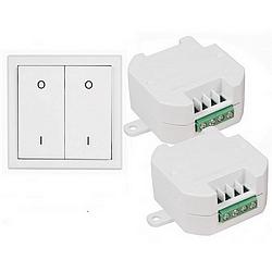 DIW Comfort Sparset-ET-630 - 2x-Funkschalter ETE-230 mit Doppel-Funk-Wandsender