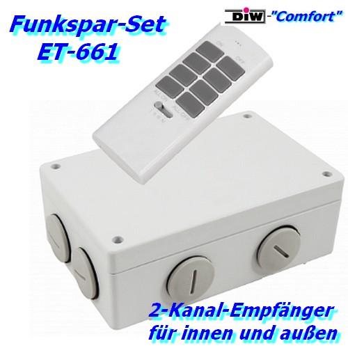 ET-266 Mc Power 2-Kanalschalter für außen DIW-Comfort