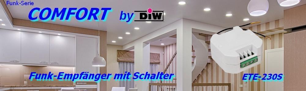 60-ETE-230S-Funk-Empfänger_mit Schalter Serie DIW-Comfort
