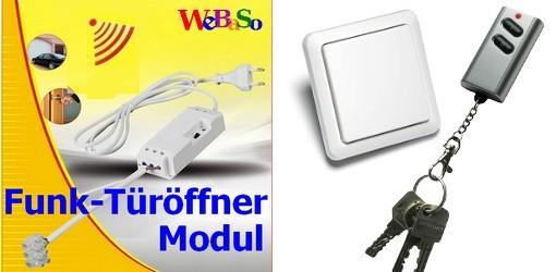 FTO-2090-KW Funk-Türöffner Modul im Set mit Funk-Wandstaster YWT-8500 und Keysender ITK-200