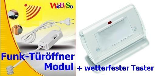 FTO-2090-T Funk-Türöffner Modul im Set mit wetterfestem Funk-Taster SLT-7000