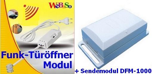 FTO-2090-DFM SET Funk-Türöffner Modul steckerfertig mit DFM-1000 Sendemodul