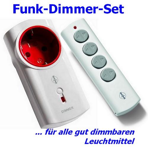 BU-IT-200L Funk-Set mit Zwischenstecker Dimmer und Fernbedienung Intertechno Bulkware
