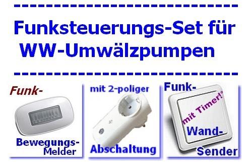 IT-ZPW Funksteuerung für Warmwasser Umwälzpumpe mit Intertechno Bewegungsmelder + Taster mit Timer DAWST1