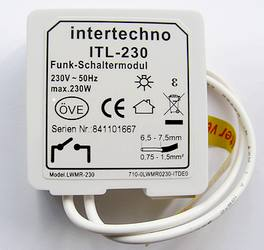 ITL-230 Funk-Modul EIN/AUS für alle Lichtschalter Intertechno