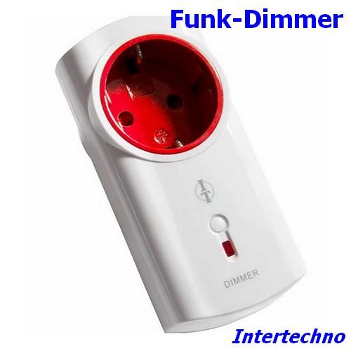 ITLR-200 Funk-Zwischenstecker Dimmer 300 W Intertechno