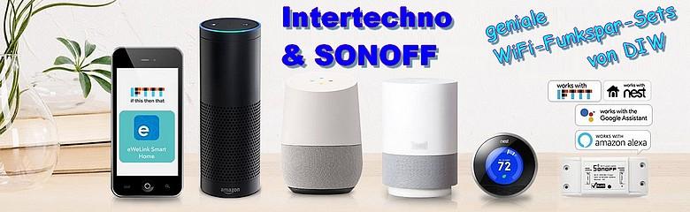 geniale WiFi-Funksparsets von DIW Sonoff und Intertechno
