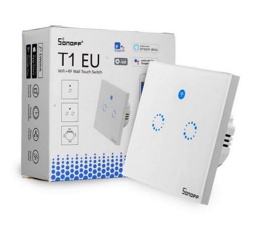BU-T1 EU2 Sonoff-WiFi Luxus-Wandsender Glas mit Funkempfangsmodul