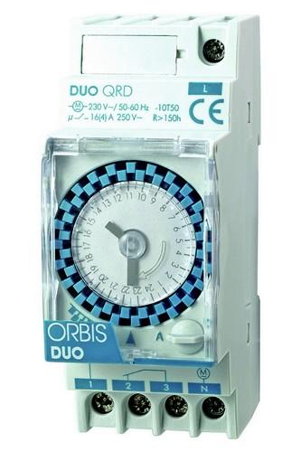 DUO QRD analoge Zeitschaltuhr Tagesscheibe Gangreserve 150 Std. von ORBIS