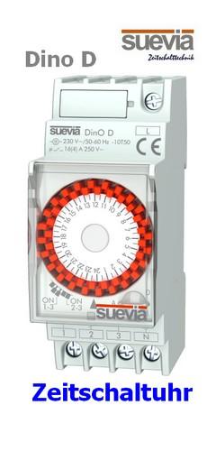 DinO D analoge Zeitschaltuhr Tagesscheibe von Suevia
