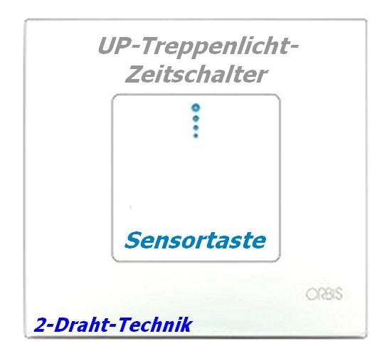 PULSALUZ 2-Draht UP-Zeitschalter mit Sensortaste Treppenlichtautomat Orbis Suevia