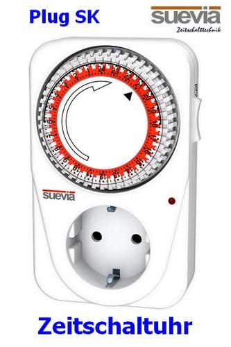 PlugSK analoge Steckdosen-Zeitschaltuhr von Suevia