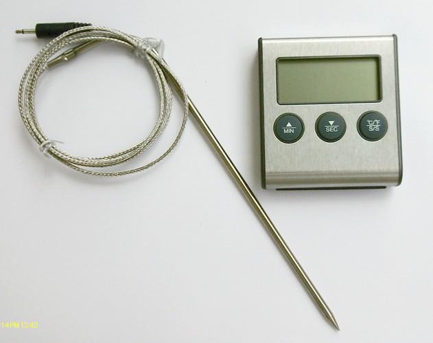 Fleisch Braten Thermometer ET921 bis 250°C hitzefestes Sensorkabel