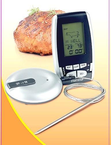 Funk-Thermometer Grill Fleisch Braten Thermometer ET934