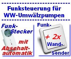 Funk-Steuerungs-Set mit zwei Taster für Umwälzpumpen Serie Intertechno