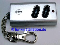 ITK-200: Pocket - Schlüsselbund-Funk-Handsender silber
