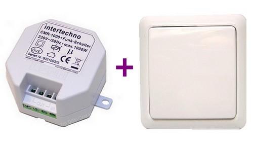 Funk-Schalt-Set: 1x CMR-1000 + 1x Wandsender YWT-8500 Intertechno